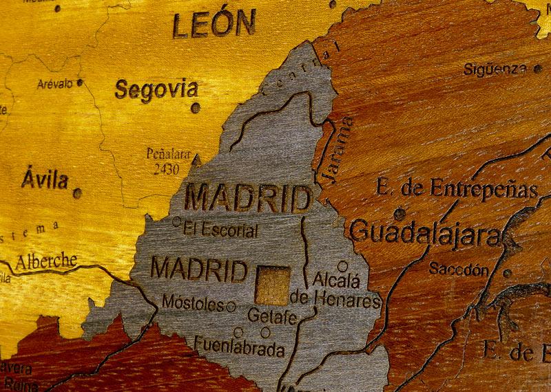 carte d'espagne détails