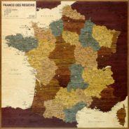 carte en marqueterie france des régions