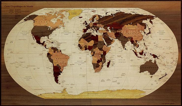 planisphère géopolitique