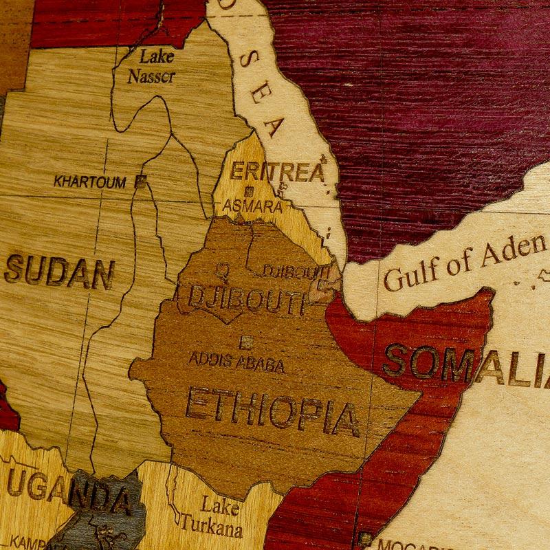 carte globe afrique détails