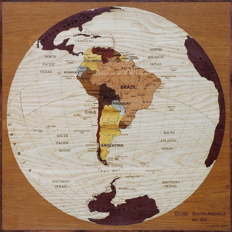 carte globe amerique sud