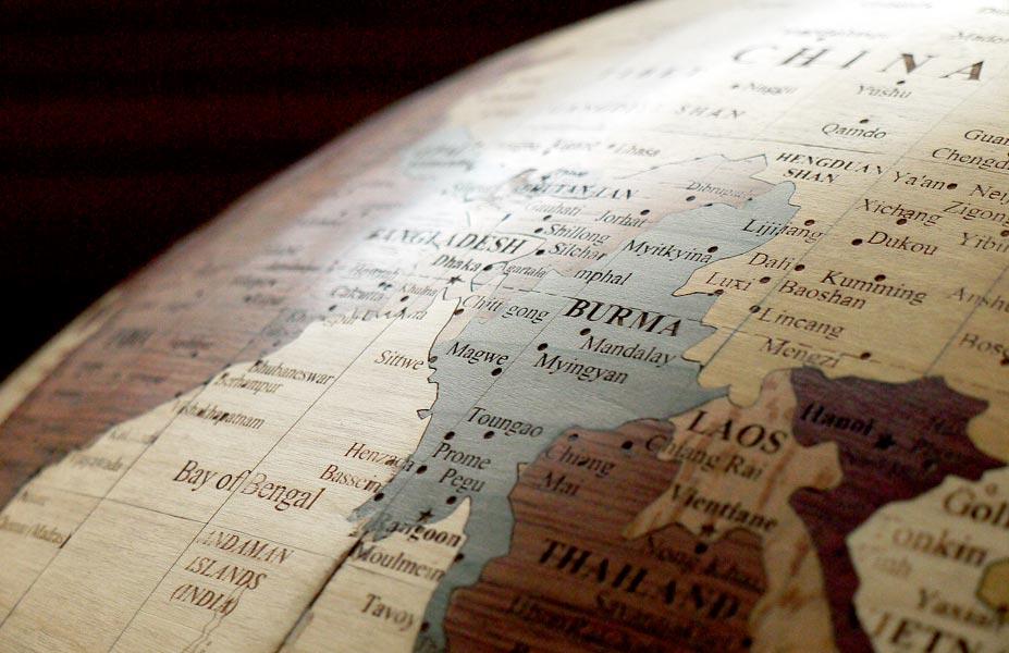 globe asie sud-est