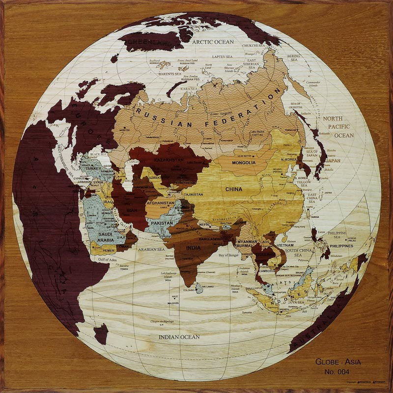 carte globe asie