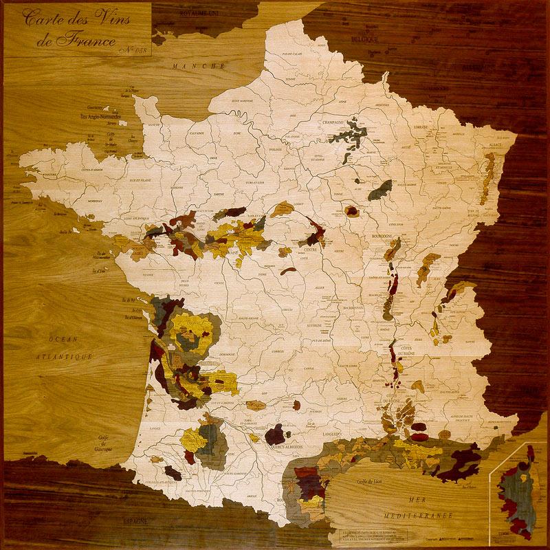 Carte de France des vins - Woodmap