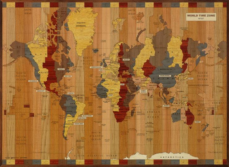 carte des zones horaires dans le monde